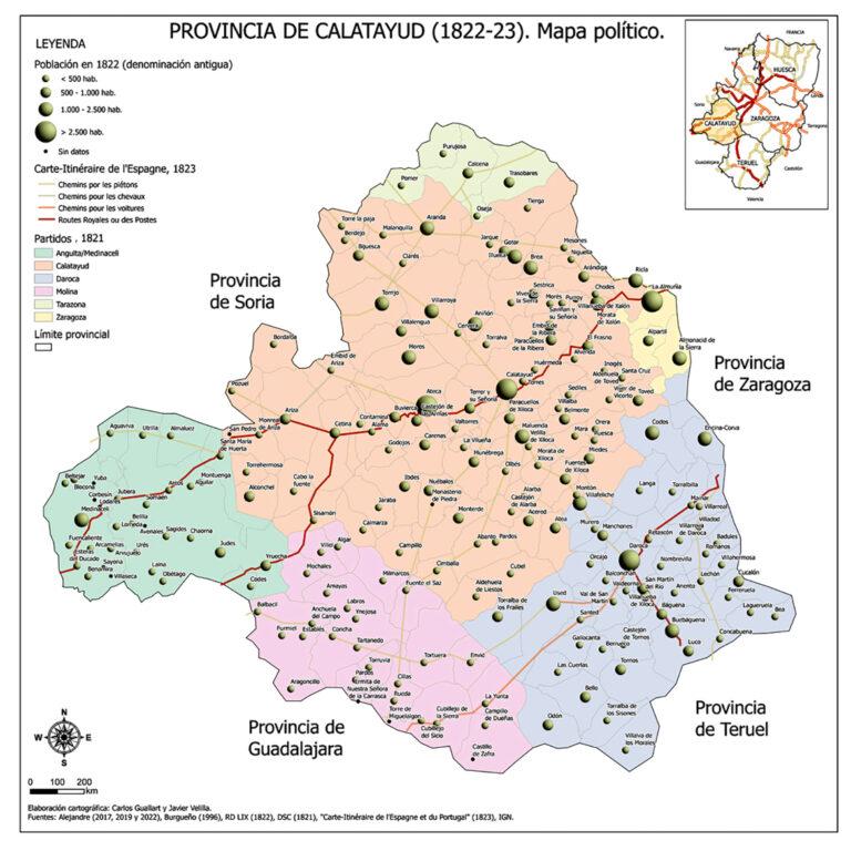 Presentación del mapa de la provincia de Calatayud